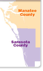 Sarasota / Bradenton Area Map